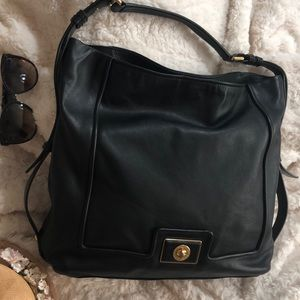 MARC BY MARC JACOBS COW LEATHER HOBO BAG